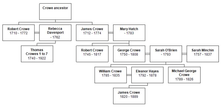 Overview descdants chart